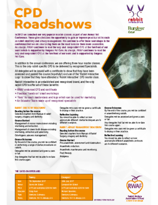 CPD Roadshows Leaflet